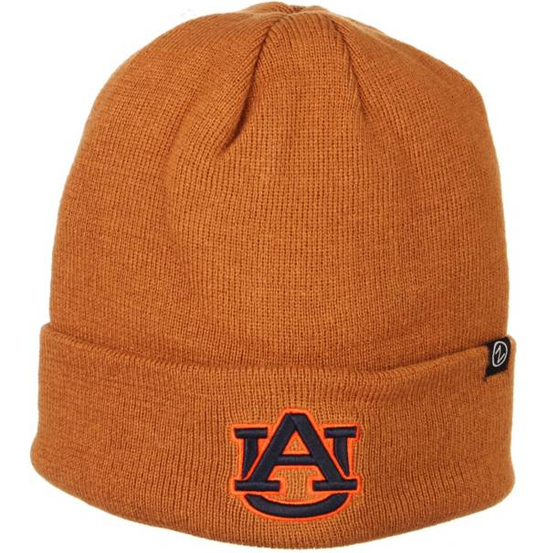 Zephyr Men's Auburn Tigers Brown Cuffed Knit Beanie product image