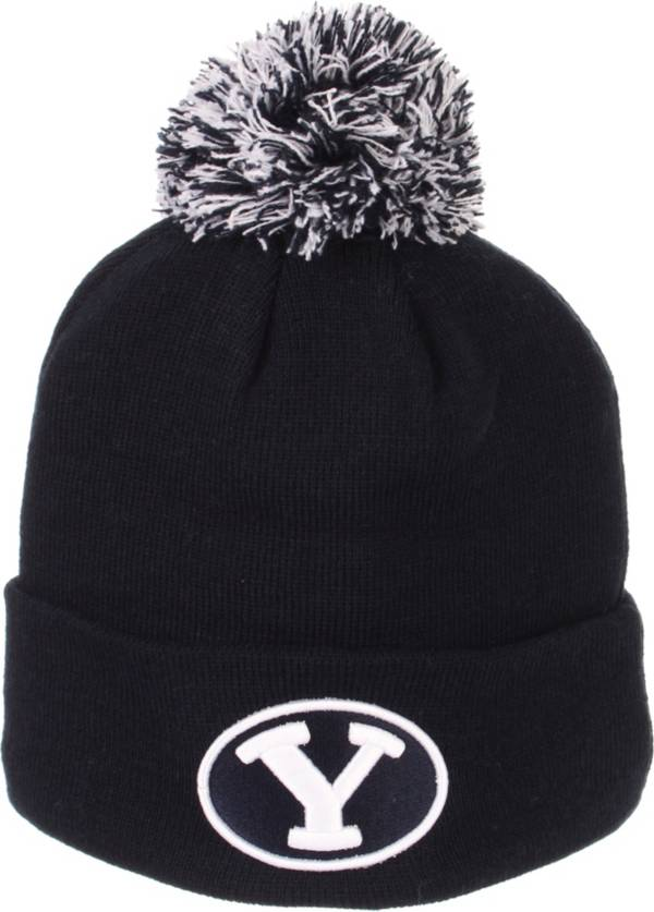 Zephyr Men's BYU Cougars Blue Pom Knit Beanie product image