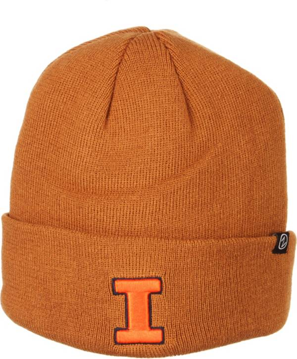 Zephyr Men's Illinois Fighting Illini Brown Cuffed Knit Beanie product image
