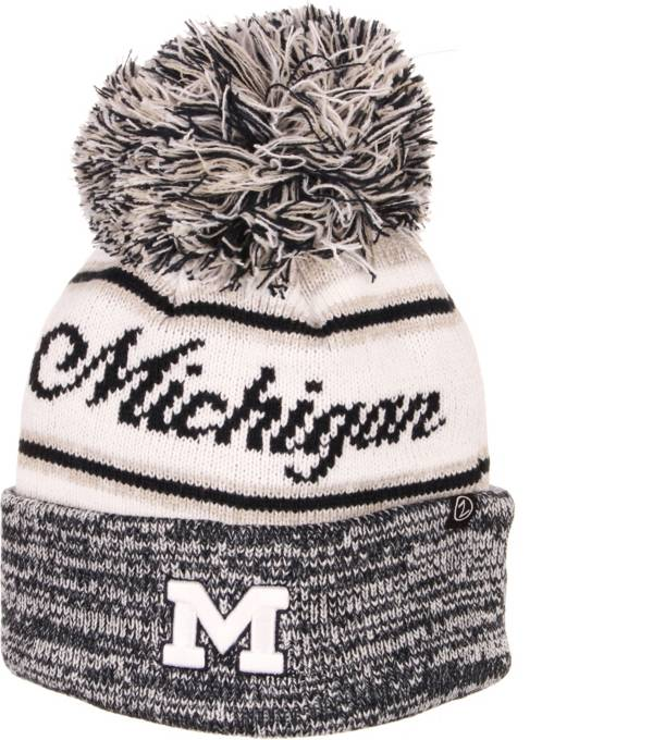 Zephyr Men's Michigan Wolverines Blue Diana Pom Knit Beanie product image