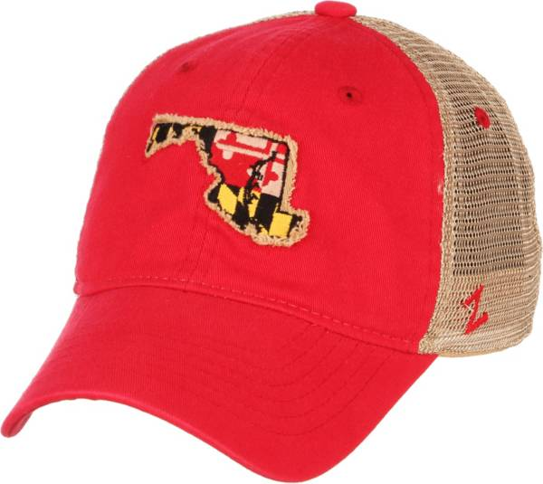 Zephyr Men's Maryland Terrapins Red/White 'Maryland Pride' State Flag Adjustable Hat product image