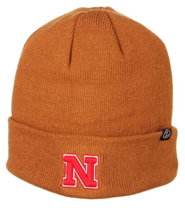 Zephyr Men's Nebraska Cornhuskers Brown Cuffed Knit Beanie product image