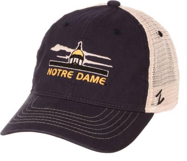 Zephyr Men's Notre Dame Fighting Irish Navy/White Adjustable Trucker Hat product image