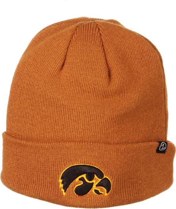 Zephyr Men's Iowa Hawkeyes Brown Cuffed Knit Beanie product image