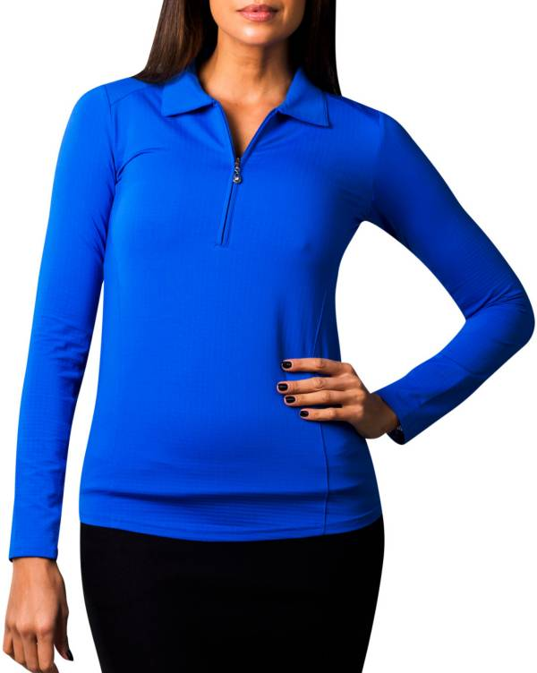 SanSoleil Women's SolTek ICE Solid ¼-Zip Golf Pullover product image
