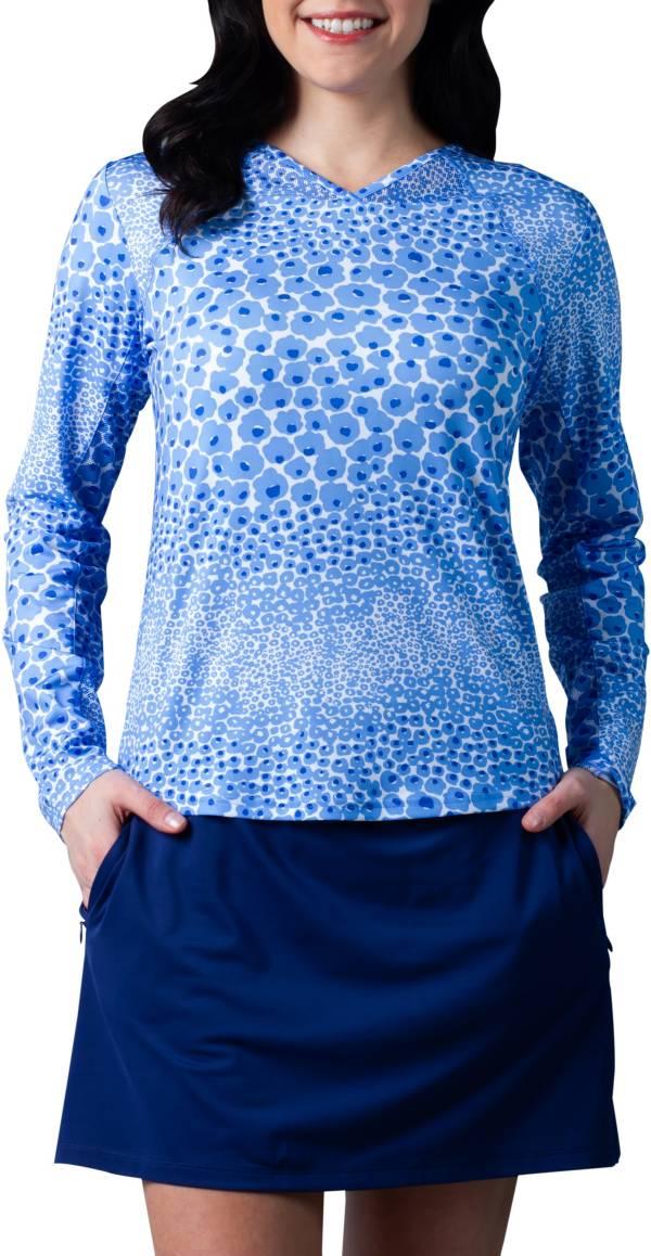 Sansoleil Women's Sunglow Printed Long Sleeve Tennis Shirt product image