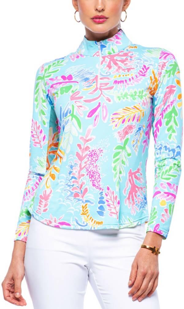 IBKUL Women's Nessa Print Mock Neck Golf Pullover product image