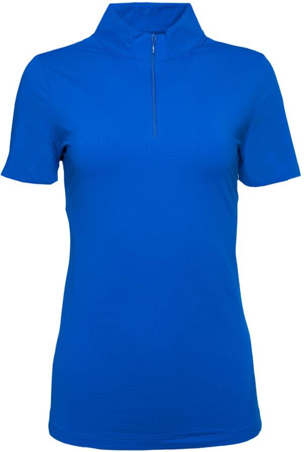 IBKUL Women's Short Sleeve Mock Neck Golf Polo product image