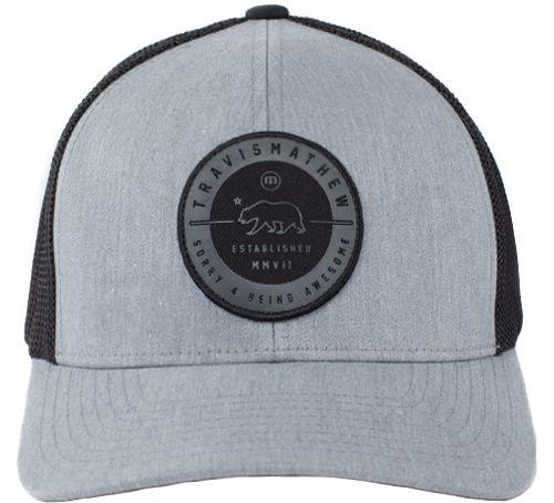 3d3f176312e TravisMathew Men s Black Bear Flexfit Golf Hat 2