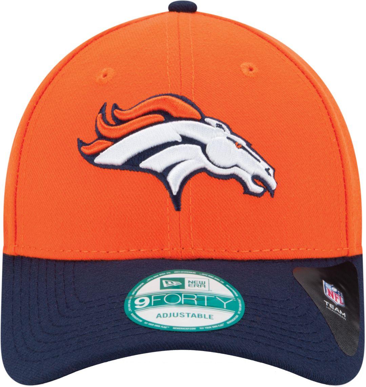 6897ed9b New Era Men's Denver Broncos League 9Forty Adjustable Orange Hat