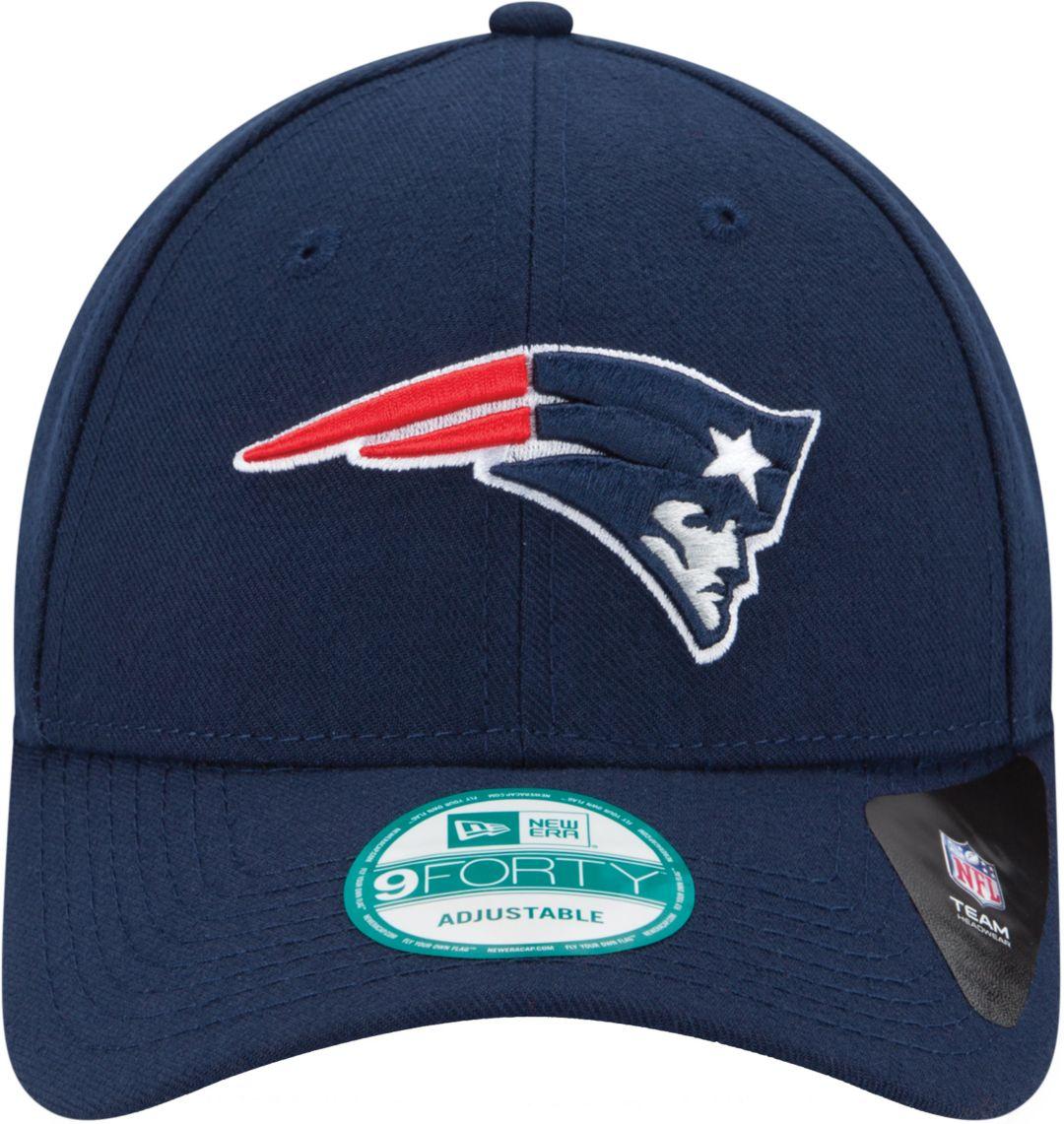 6bbe9179e New Era Men's New England Patriots League 9Forty Adjustable Navy Hat