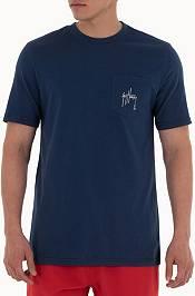 Guy Harvey Men's Blue and Betram Pocket T-Shirt product image