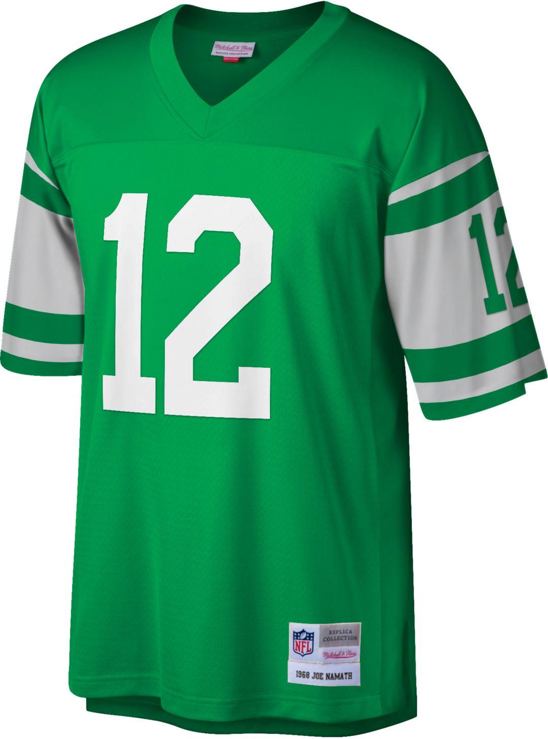 newest aca53 74fe3 Mitchell & Ness Men's 1968 Game Jersey New York Jets Joe Namath #12