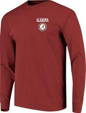 Image One Men's Alabama Crimson Tide Crimson Campus Sky Long Sleeve T-Shirt product image
