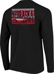 Image One Men's Nebraska Cornhuskers Campus Sky Long Sleeve Black T-Shirt product image