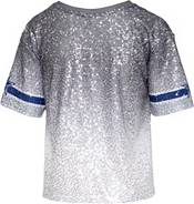 Dallas Cowboys Merchandising Women's Sequin Grey Jersey Crop Top product image