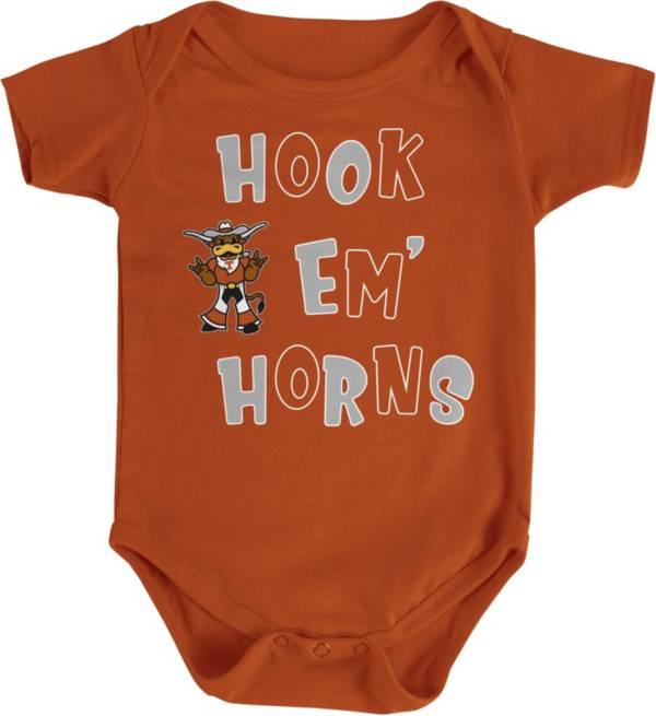 University Of Texas Authentic Apparel Infant Texas Longhorns Burnt Orange Hook Em Onesie Dick S Sporting Goods