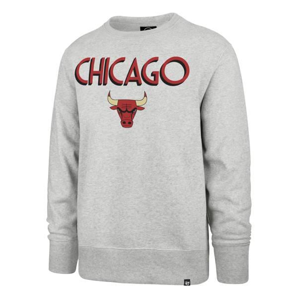 '47 Men's 2020-21 City Edition Chicago Bulls Grey Headline Crewneck product image