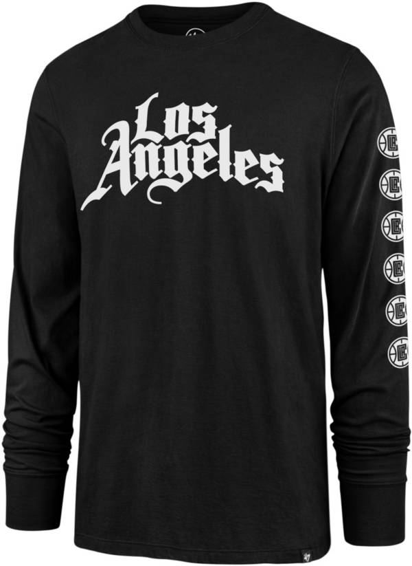 '47 Men's 2020-21 City Edition Los Angeles Clippers Black Rival Long Sleeve T-Shirt product image