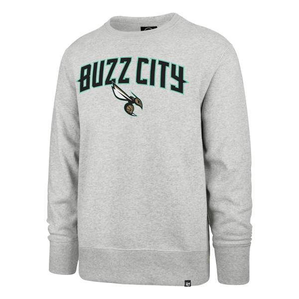 '47 Men's 2020-21 City Edition Charlotte Hornets Grey Headline Crewneck product image