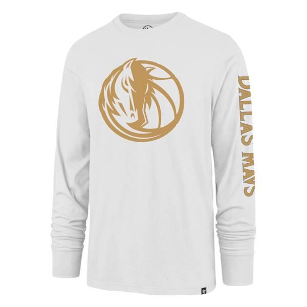 '47 Men's 2020-21 City Edition Dallas Mavericks White Rival Long Sleeve T-Shirt product image