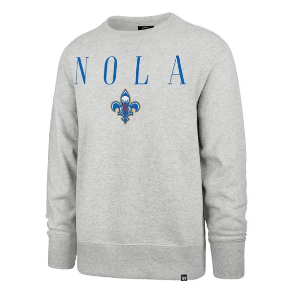 '47 Men's 2020-21 City Edition New Orleans Pelicans Grey Headline Crewneck product image
