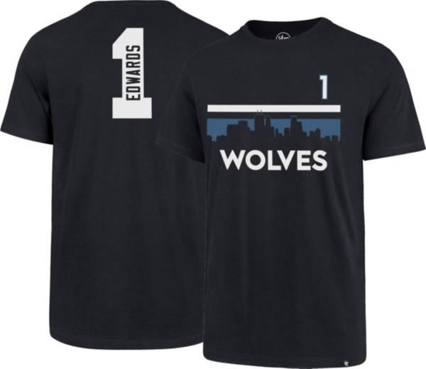 '47 Men's Minnesota Timberwolves Anthony Edwards #1 Navy T-Shirt product image
