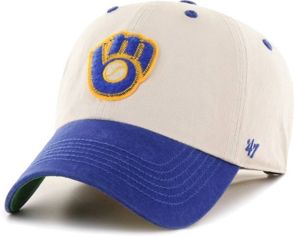 '47 Men's Milwaukee Brewers Bone Prewett Clean Up Adjustable Hat product image