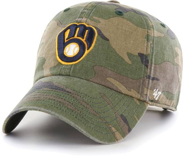 '47 Men's Milwaukee Brewers Camo Clean Up Adjustable Hat product image