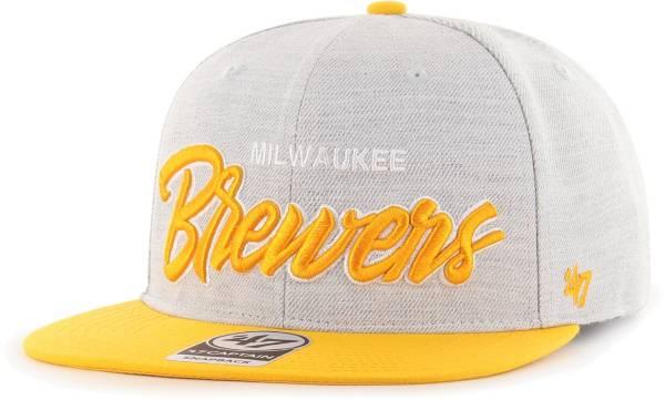 '47 Men's Milwaukee Brewers Gray Street Captain Adjustable Snapback Hat product image