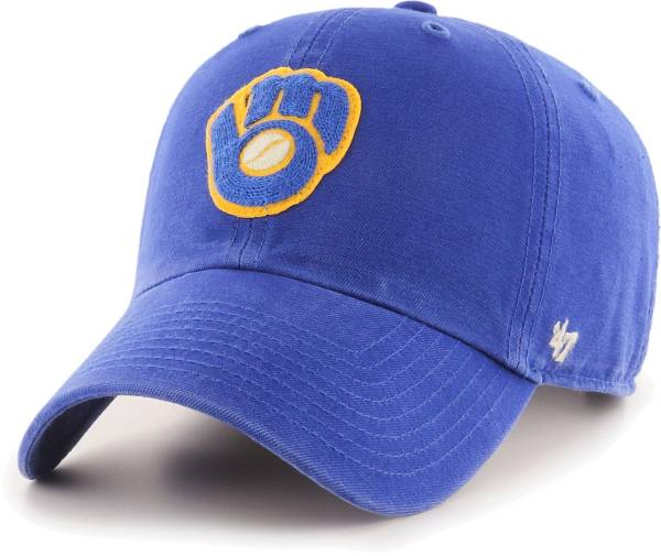 '47 Men's Milwaukee Brewers Royal Mclean Clean Up Adjustable Hat product image