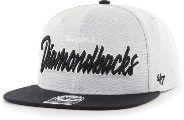 '47 Men's Arizona Diamondbacks Gray Street Captain Adjustable Snapback Hat product image