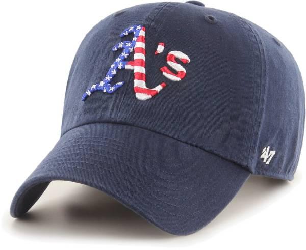 '47 Men's Oakland Athletics Navy Star Spangled Clean Up Adjustable Hat product image