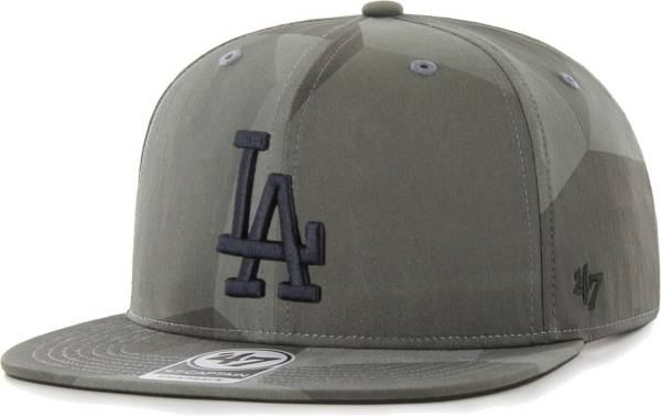 '47 Men's Los Angeles Dodgers Gray Captain Adjustable Snapback Hat product image