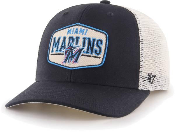 '47 Men's Miami Marlins Black Sumay MVP DP Adjustable Hat product image