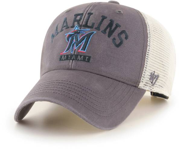 '47 Men's Miami Marlins Gray Brayman Snap MVP Adjustable Hat product image