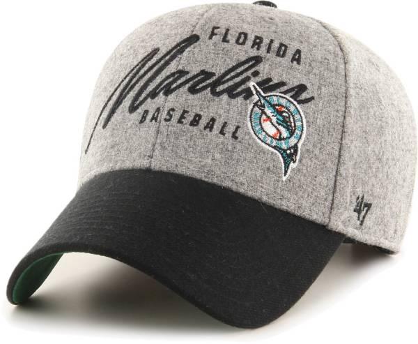 '47 Men's Miami Marlins Gray Fenmore MVP Adjustable Hat product image