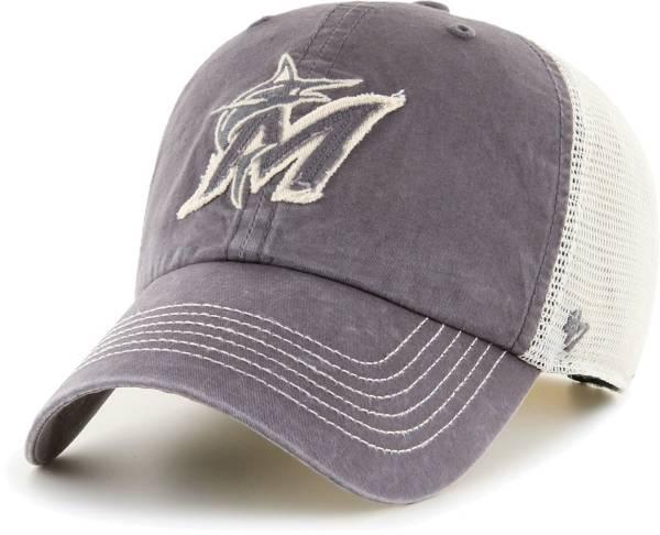 '47 Men's Miami Marlins Gray Hudson Mesh Clean Up Adjustable Hat product image