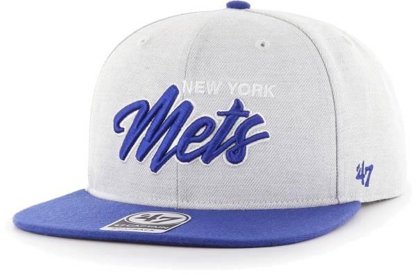 '47 Men's New York Mets Gray Street Captain Adjustable Snapback Hat product image