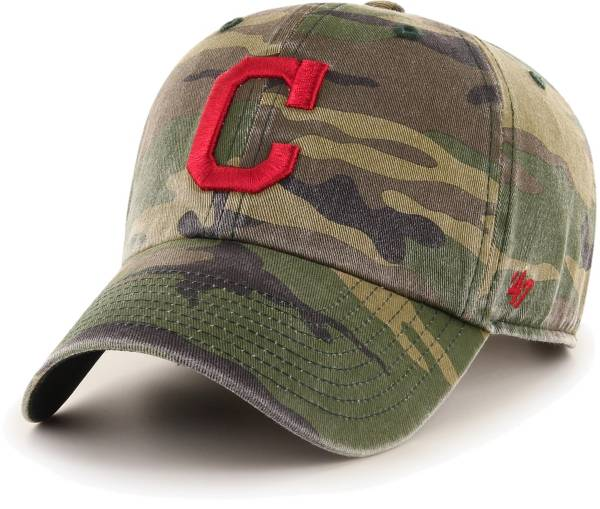 '47 Men's Cleveland Indians Camo Clean Up Adjustable Hat product image
