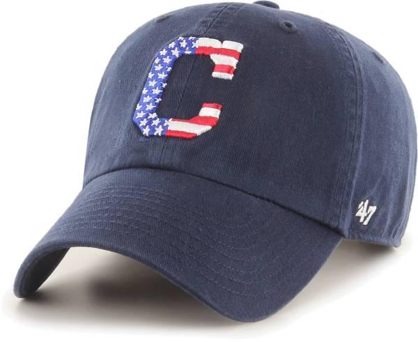 '47 Men's Cleveland Indians Navy Star Spangled Clean Up Adjustable Hat product image