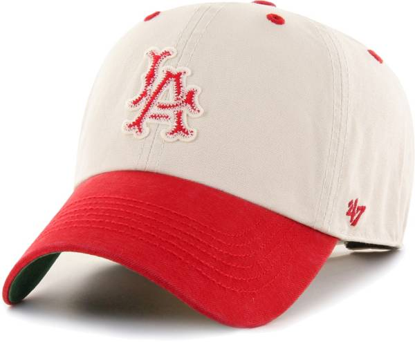 '47 Men's Los Angeles Angels Bone Prewett Clean Up Adjustable Hat product image