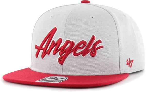 '47 Men's Los Angeles Angels Gray Street Captain Adjustable Snapback Hat product image