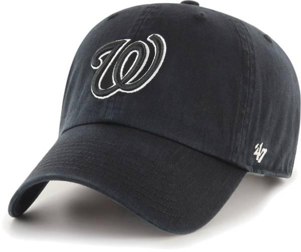 '47 Men's Washington Nationals Black Clean Up Adjustable Hat product image