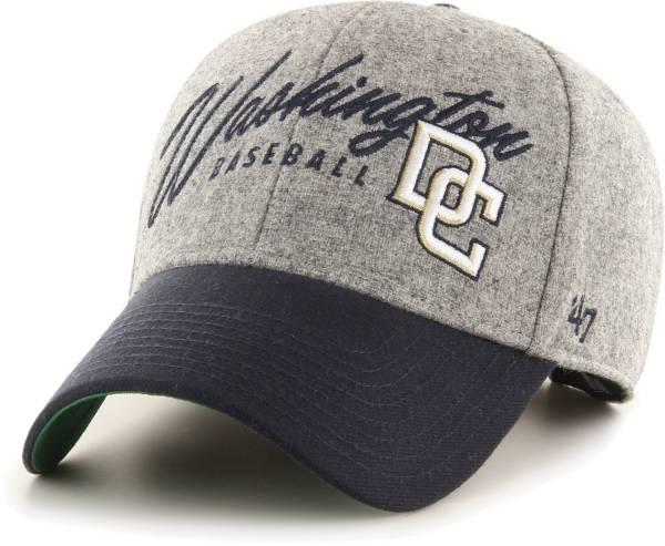 '47 Men's Washington Nationals Gray Fenmore MVP Adjustable Hat product image