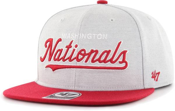 '47 Men's Washington Nationals Gray Street Captain Adjustable Snapback Hat product image