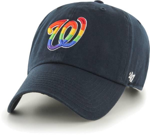 '47 Men's Washington Nationals Navy Pride Clean Up Adjustable Hat product image