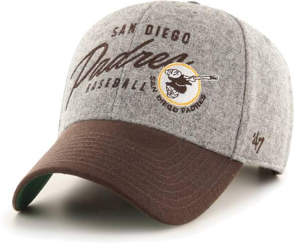 '47 Men's San Diego Padres Gray Fenmore MVP Adjustable Hat product image