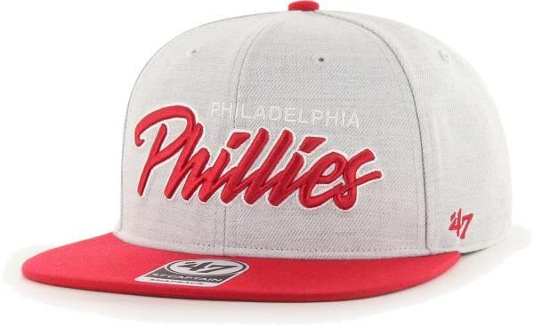'47 Men's Philadelphia Phillies Gray Street Captain Adjustable Snapback Hat product image