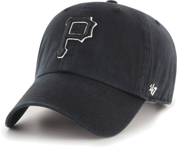 '47 Men's Pittsburgh Pirates Black Clean Up Adjustable Hat product image
